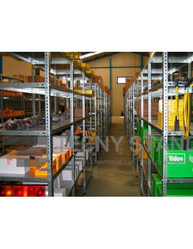 Estantería Metálica 200 Altox90 Largox 40 Fondo 5 Estantes