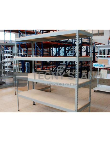 Estantería Metálica SIN TORNILLOS 200 Altox90 Largox 40 Fondo 5 Estantes Metálicos